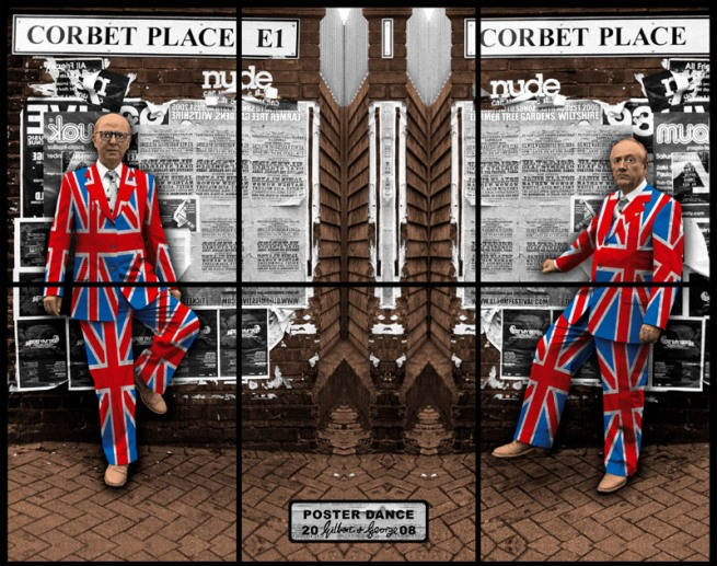 Gilbert & George. 'POSTER DANCE' 2008