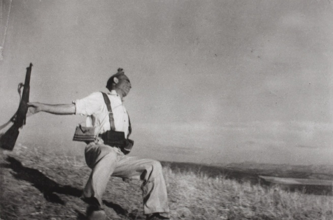 Robert Capa. 'September 5, 1936. The death of a Loyalist militaman.' 1936