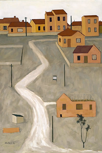 John Brack. 'The unmade road' 1954