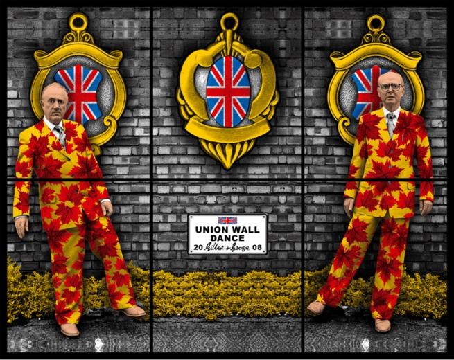 Gilbert & George. 'UNION WALL DANCE' 2008