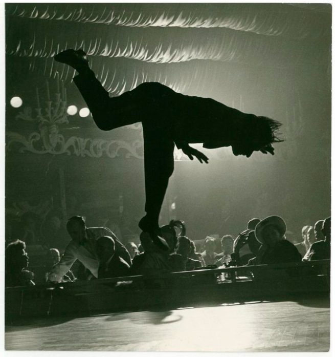 Anonymous. 'Acrobat Piroska at the Latin Quarter (Published in Life Magazine)' c.1945