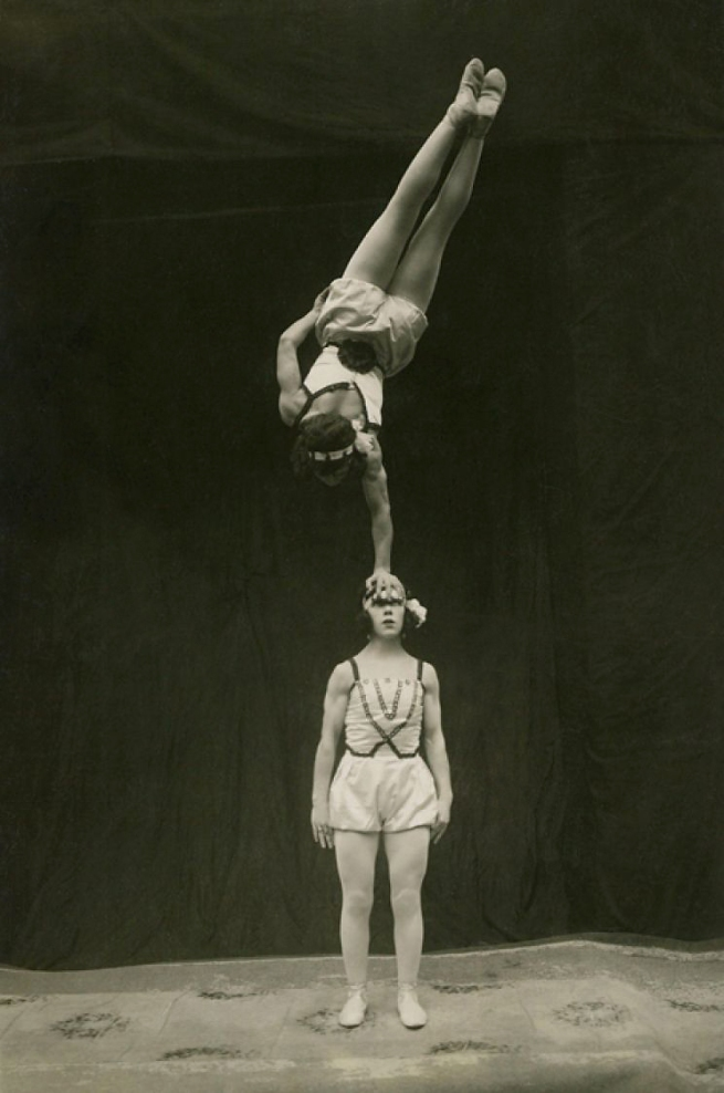 Anonymous photographer. 'Acrobats' c. 1920
