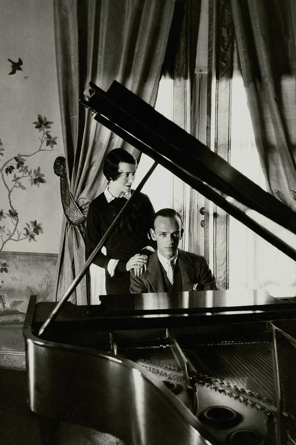 Cecil Beaton (British, (1904-1980) 'Fred and Adele Astaire at a piano' 1930