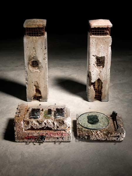 Ron Arad. 'Concrete Stereo' 1983