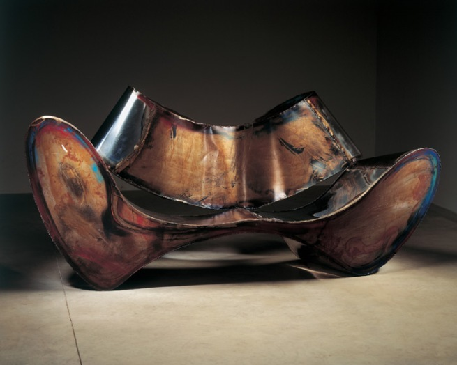 Ron Arad. 'D-Sofa' Prototype 1994, Patinated, painted, oxidized stainless steel and mild steel