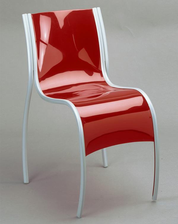 Ron Arad. 'FPE (Fantastic, Plastic, Elastic)' 1997, Aluminum and injection-molded polypropylene plastic sheet