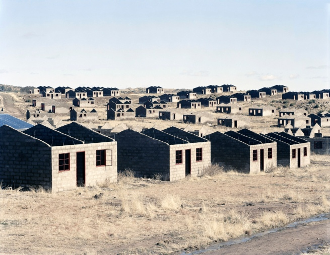 David Goldblatt. 'Incomplete houses, part of a stalled municipal development of 1000 houses. Lady Grey, Eastern Cape, 5 August 2006' 2006