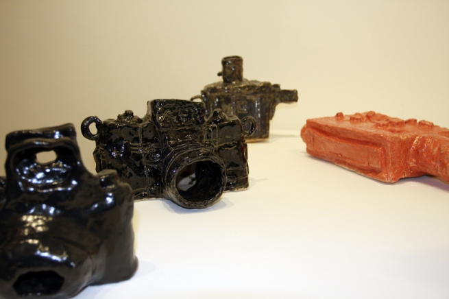Installation view of 'Clay Cameras' at Helen Gory Galerie, Melbourne