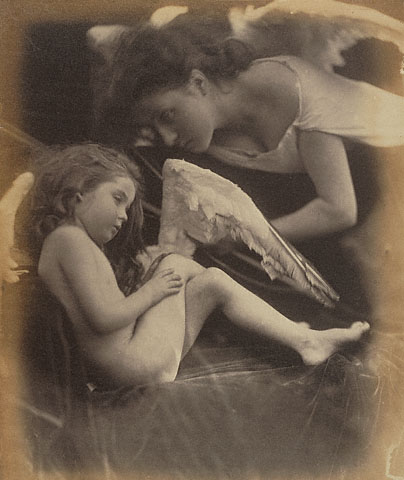 Julia Margaret Cameron. 'Venus Chiding Cupid and Removing His Wings' 1872