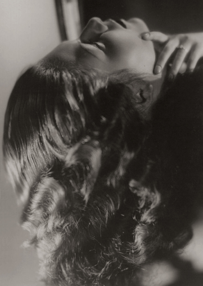Laure Albin Guillot (French, 1879-1962) 'La Flamme (Woman's Head)' c. 1935