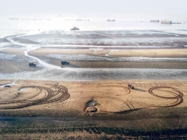 Matthias Koch. 'Harbour, Allied landing near Normandy, 1944' 2006