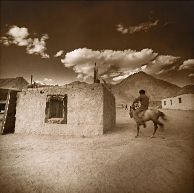 Max Pam (Australian, b. 1949) 'Man on Tibetan pony, Leh Ladakh' 1977