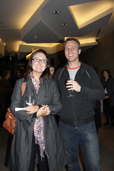 Edwin Nicholls and Sophie Gannon at the opening of 'Long Distance Vision' at NGV Australia, Melbourne