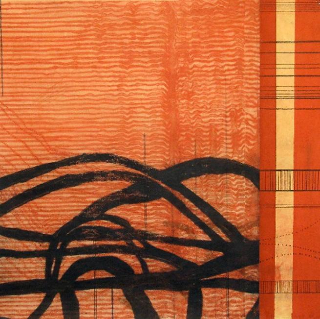 Sarah Amos. 'Red Walk' 2009