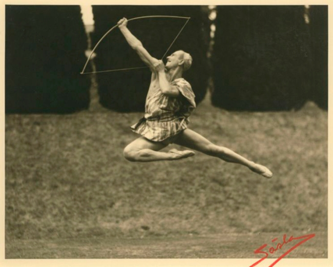 Sasha. 'Archer Leaping Through the Air' c.1930