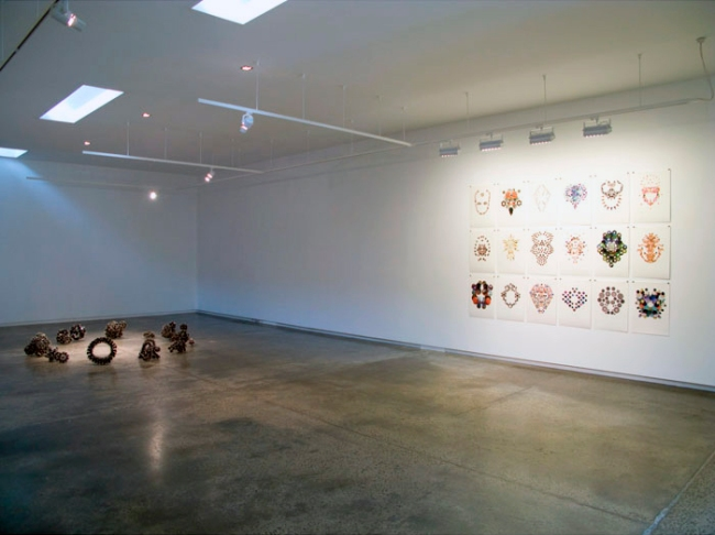 Carl Scrase 'Fractal Alchemy' installation view 2009