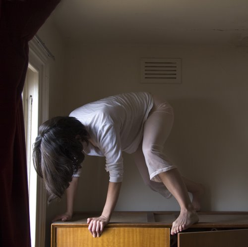 Clare Rae. 'Untitled' from the series 'Climbing the Walls and Other Actions' 2009