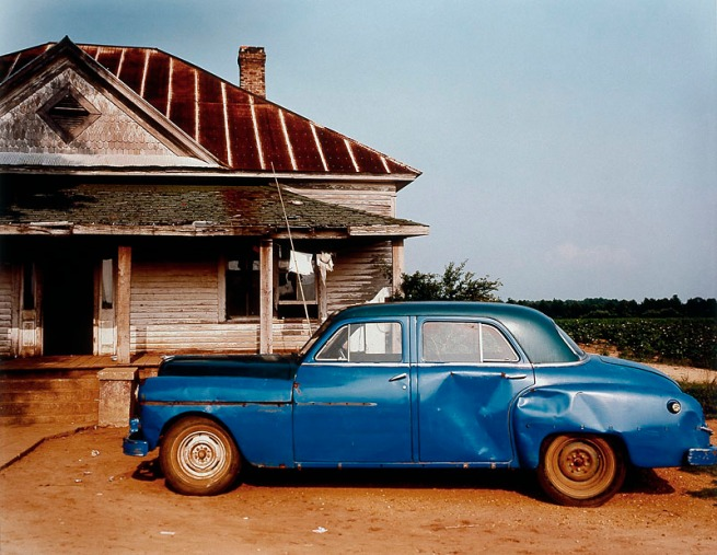 William Christenberry. 'House and Car, near Akron, Alabama' 1978