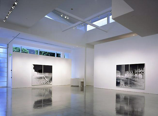 Installation view of Vera Lutter at Gagosian Gallery, Beverly Hills
