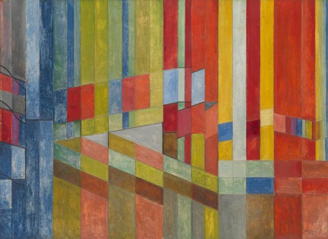 Roy de Maistre(Australian, 1894-1968) 'Arrested Movement from a Trio' 1934