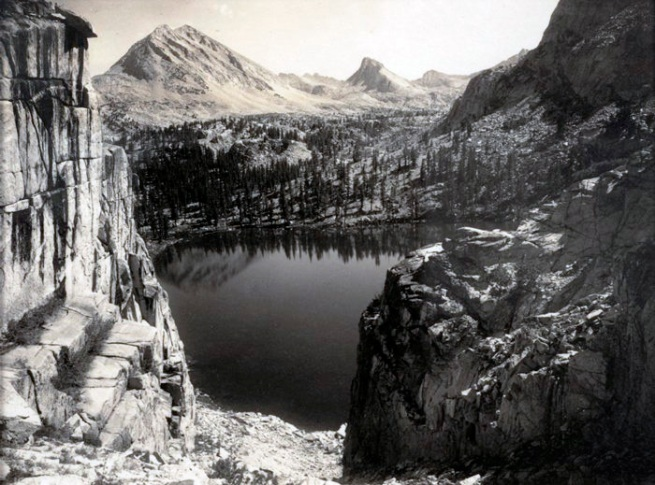 Ansel Adams. 'Marion Lake, Southern Sierra, from the portfolio Parmelian Prints of the High Sierras' 1927