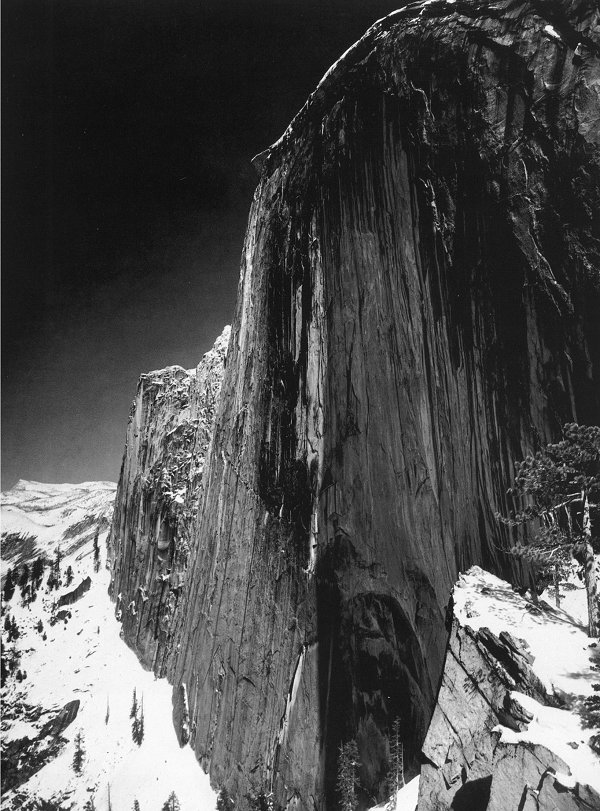 Ansel Adams. 'Monolith, The Face of Half Dome, Yosemite National Park' 1927