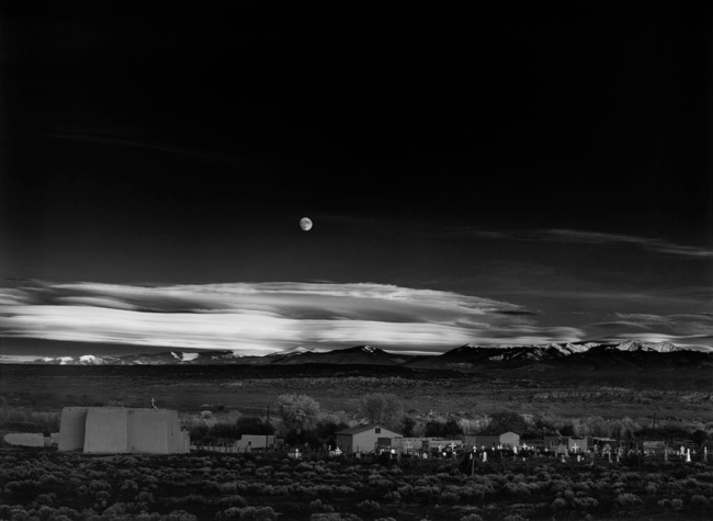 Ansel Adams. 'Moonrise, Hernandez, New Mexico' 1941