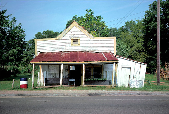 William Christenberry. 'T.B. Hick's Store, Newbern, Alabama' 1976