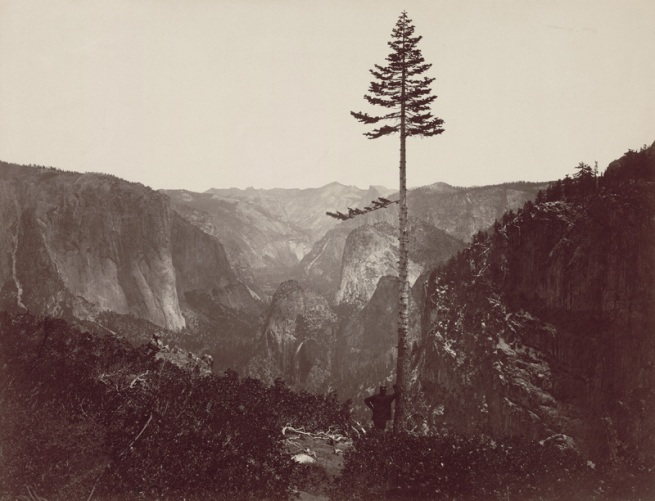 Carelton Watkins. 'Yosemite Valley from the Best General View No.2' 1866