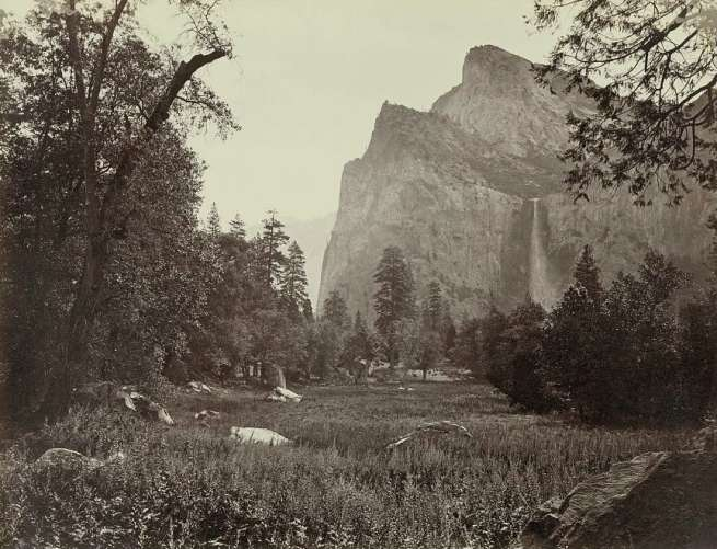 Carleton Watkins. 'Bridal Veil, Yosemite' 1866