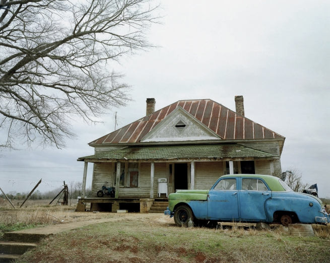 William Christenberry. 'House and Car, near Akron, Alabama' 1981