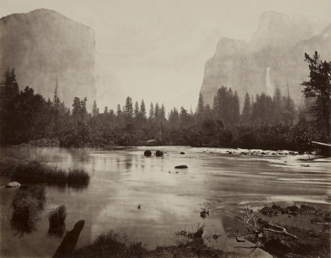 Eadweard J. Muybridge. 'Valley of Yosemite, from Rocky Ford' 1872