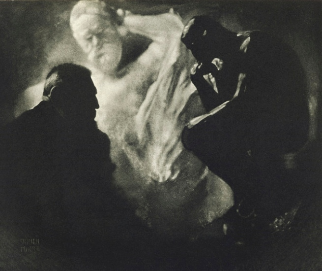 Edward Steichen. 'Rodin The Thinker' 1902