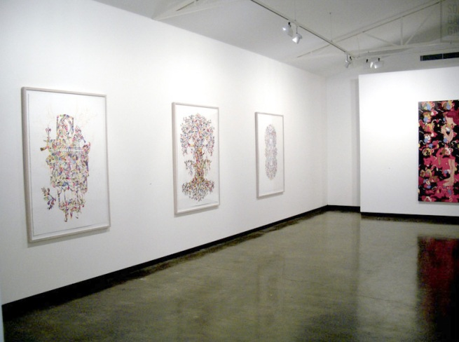 Installation view of 'Slow down, don't run so fast' by Kirra Jamison at Sophie Gannon Gallery, Richmond