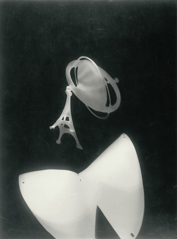 László Moholy-Nagy. 'Fotogram with Eiffel Tower and Peg Top' c.1928