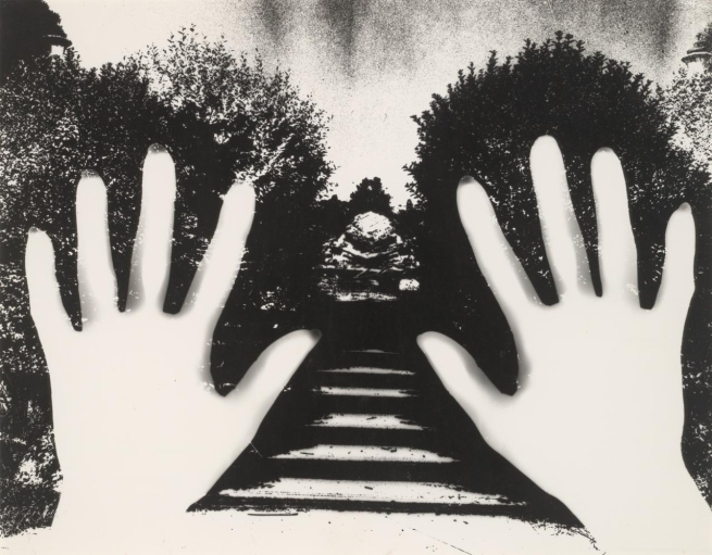 Sue Ford (Australian, 1943-2009) 'No title (Photogram of two hands and garden path)' c. 1970