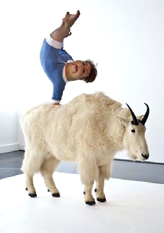 Patricia Piccinini. 'The Strength of one Hand (With Canadian Mountain Goat)' 2009