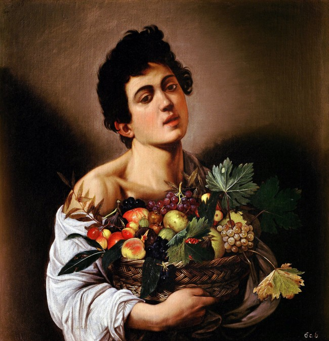 Michelangelo Merisi da Caravaggio (Italian, 1571-1610) 'Boy with a Basket of Fruit' c. 1593-1594