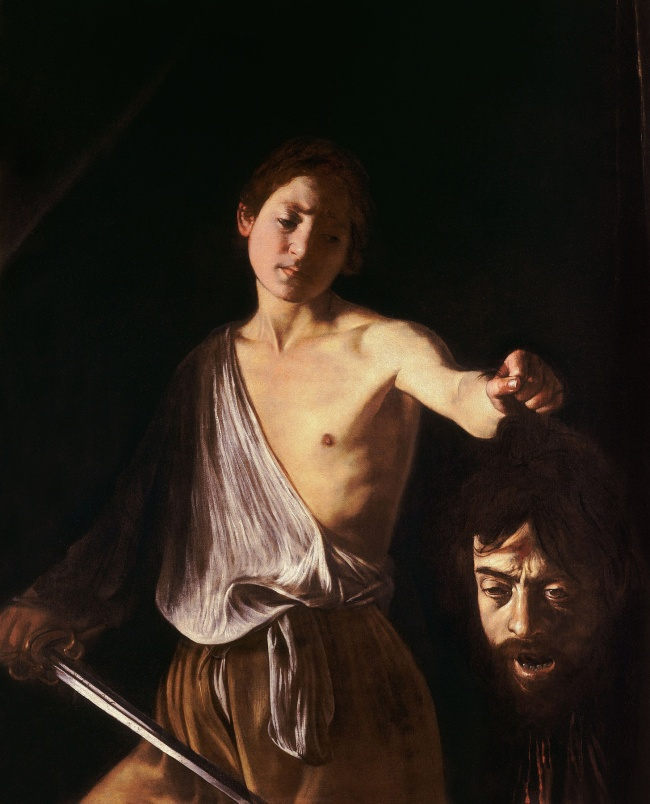 Michelangelo Merisi da Caravaggio (Italian, 1571-1610) 'David with the Head of Goliath' c. 1610