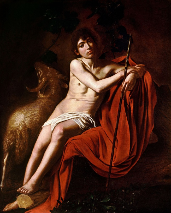 Michelangelo Merisi da Caravaggio(Italian, 1571-1610) 'John the Baptist (John in the Wilderness)' c. 1610