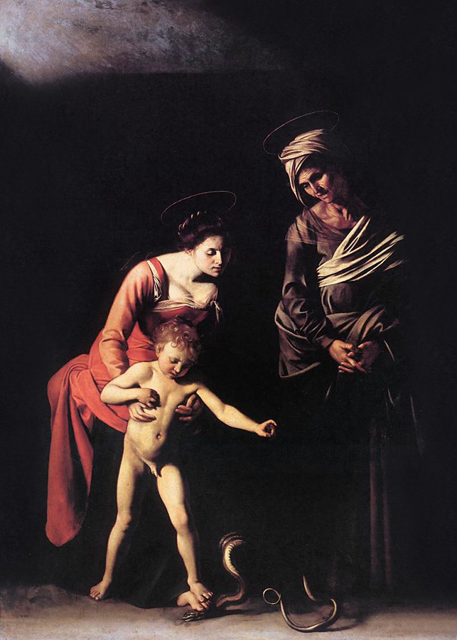 Michelangelo Merisi da Caravaggio (Italian, 1571-1610) 'Madonna and Child with St. Anne (dei Palafrenieri)' 1606