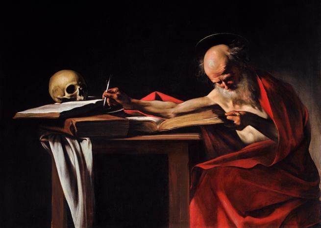 Michelangelo Merisi da Caravaggio(Italian, 1571-1610) 'Saint Jerome Writing' c. 1605-1606