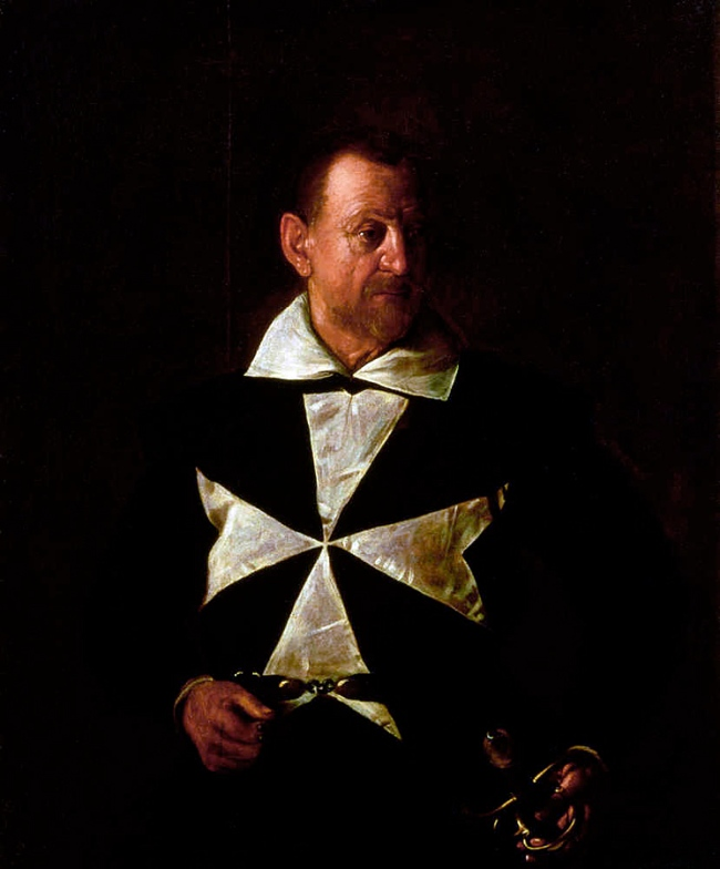 Michelangelo Merisi da Caravaggio (Italian, 1571-1610) 'The portrait of Antonio Martelli, Knight of Malta' 1608-09