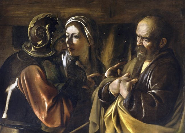 Michelangelo Merisi da Caravaggio (Italian, 1571-1610) 'The Denial of Saint Peter' 1610