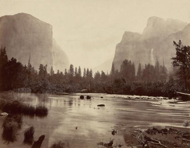 Eadweard J. Muybridge. 'Valley of Yosemite, from Rocky Ford' 1872