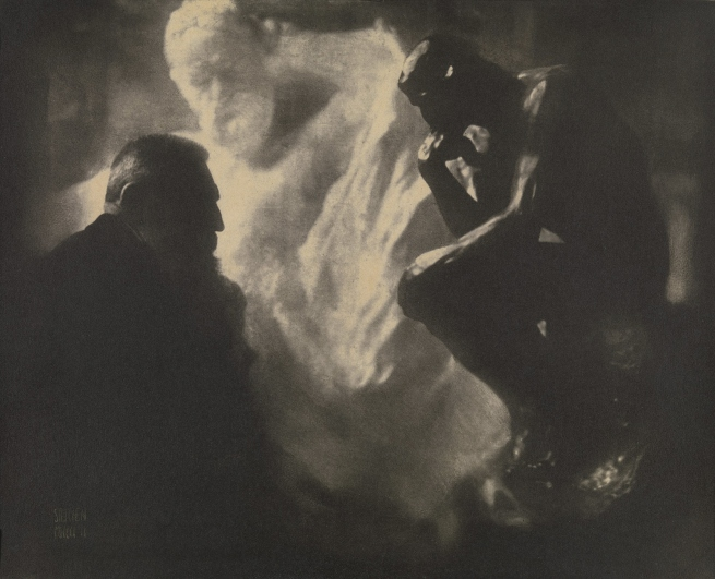 Edward Steichen (American 1879-1973) 'Rodin The Thinker' 1902