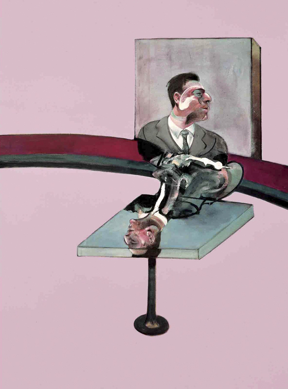Francis Bacon (British 1909-1992) Right panel of the 'Triptych in Memory of George Dyer' 1971