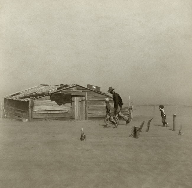 Arthur Rothstein(American 1915-1985) 'Dust Storm, Cimarron County' 1936