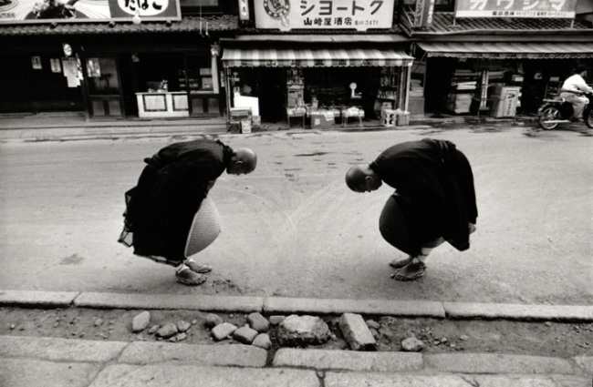 Rene Burri(Swiss, 1933-2014) 'Two Monks, Kyoto, Japan' 1961