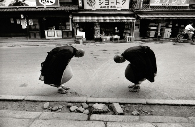 Rene Burri (Swiss, 1933-2014) 'Two Monks, Kyoto, Japan' 1961